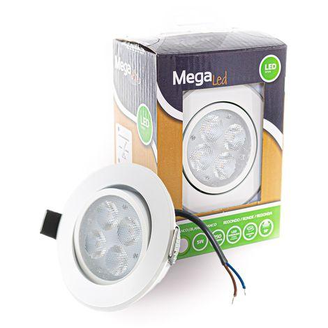 Spot encastrable LED amovible Blanc 5W - Equivalent 50W - Mega Led CLIRW50W