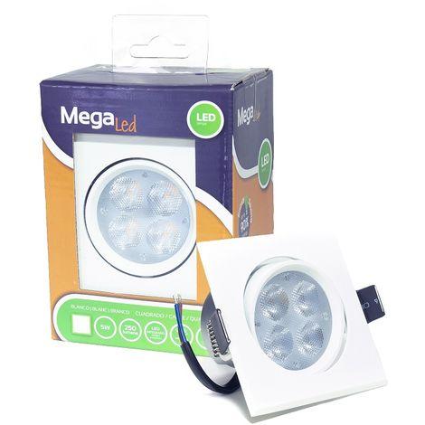 Spot encastrable LED amovible Blanc 5W - Equivalent 50W - Mega Led LISW50W