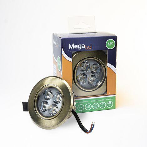 Spot encastrable LED amovible Bronze 5W - Equivalent 50W - Mega Led CLI-RB50W