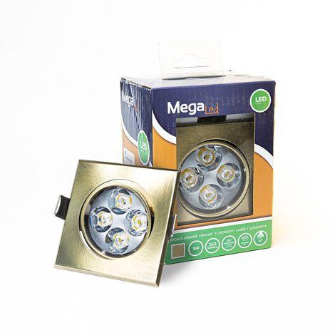 Spot encastrable LED amovible Bronze 5W - Equivalent 50W - Mega Led CLISB50W