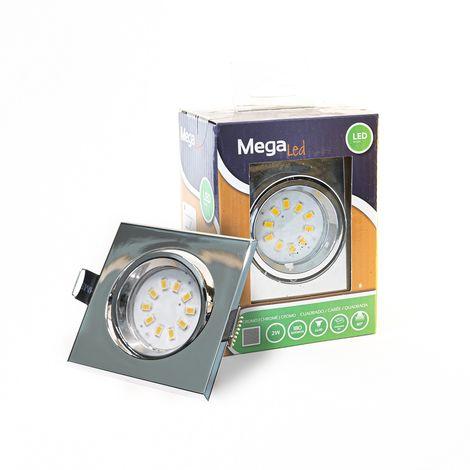 Spot encastrable LED amovible Chrome 2W - Equivalent 20W - Mega Led CL10GUSC20W