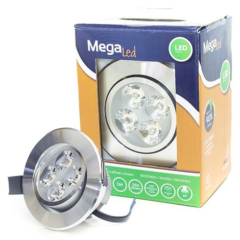Spot encastrable LED amovible Chrome 5W - Equivalent 50W - Mega Led CLI-RC50W