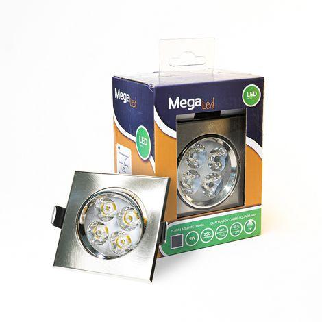 Spot encastrable LED amovible Chrome 5W - Equivalent 50W - Mega Led CLISC50W