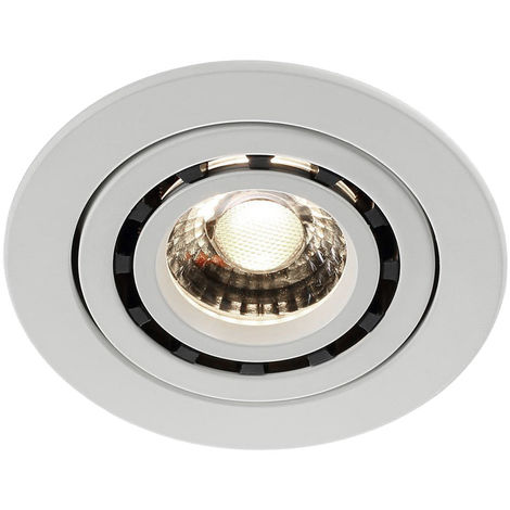 Spot encastrable LED blanc avec spot mobile BALDER