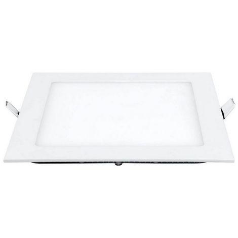 Spot Encastrable LED - Carre - de Plafond, Murale - Blanc en Metal, Acrylique, 23 x 23 x 2,2 cm, 1 x LED, 15 W, 1500LM, 3000K