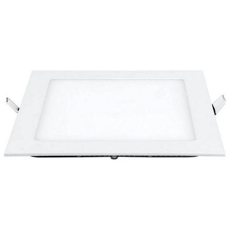 Spot Encastrable LED - Carre - de Plafond, Murale - Blanc en Metal, Acrylique, 25 x 25 x 2,2 cm, 1 x LED, 18 W, 1800LM, 3000K