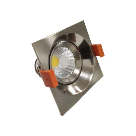 Spot Encastrable LED COB Carré Orientable 8W 60° ALU - Blanc Chaud 2300K - 3500K