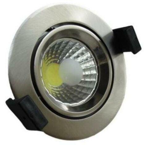 Spot Encastrable LED COB Rond Orientable 8W 60° ALU - Blanc Neutre 4000K - 5500K