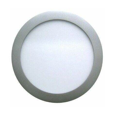 Spot Encastrable LED Downlight Panel Argent 7W Blanc Neutre 4200-4500K