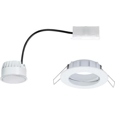 Spot encastrable LED pour salle de bain LED intégrée Paulmann Coin 93973 blanc chaud 6.8 W blanc (mat)
