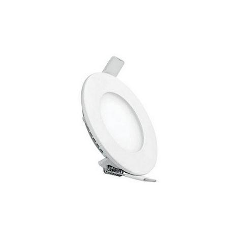 Spot Encastrable LED Rond - de Plafond, Murale - Blanc en Metal, 8,5 x 8,5 x 2,2 cm, 1 x LED, 3W, 300LM, 3000K Lumiere Blanc Naturel