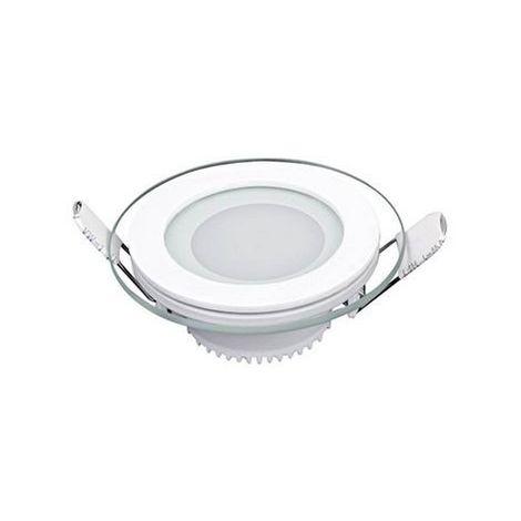 Spot Encastrable LED - Rond - de Plafond, Murale - Blanc en Metal, Verre, 10 x 10 x 40 cm, 1 x LED, 6 W, 600LM, 6500K