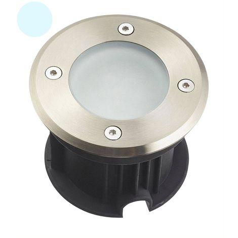 Spot encastrable LED SMD VEGAS Inox 316L 12V Rond (montage en série avec 2 presses étoupe) FROST 2W IP67 Blanc Froid HIPOW