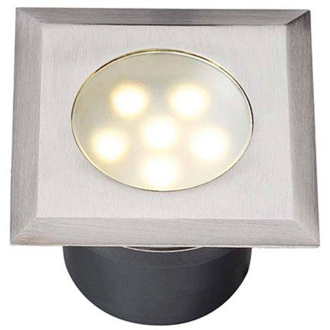 Spot encastrable LEDA 1W PLATINE LED IP68 Blanc Chaud éxterieur Garden lights ampoule fournie - GL4040601