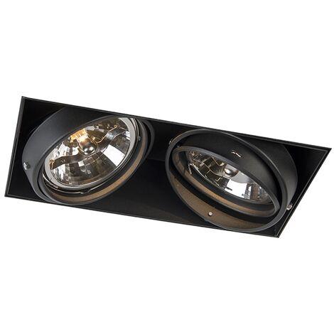 Spot encastrable noir AR111 - Oneon 111-2 Trimless Qazqa Moderne Luminaire interieur