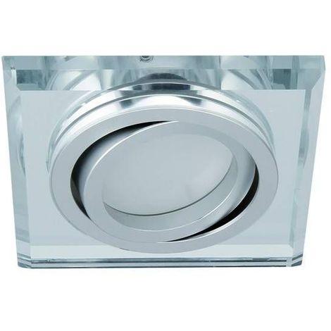 Spot encastrable orientable carré Design Argent Collection MORTA Kanlux - 26718