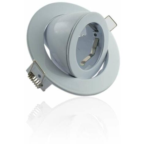 Spot encastrable orientable rond Blanc type escargot