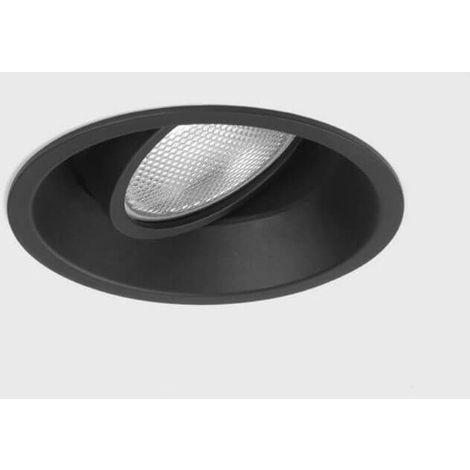 Spot encastrable orientable rond Minima GU10 230V D8,2 cm - Noir - Noir