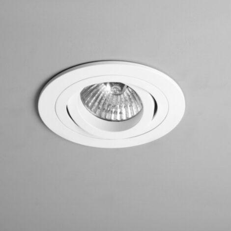Spot encastrable orientable rond Taro IP20 D9 cm - Blanc - Blanc
