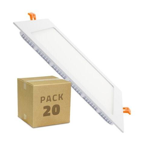 Spot Encastrable PACK Dalle LED Carrée Extra Plate 18W (20 Un) Downlight Panel