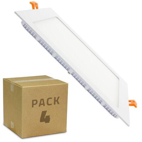 Spot Encastrable PACK Dalle LED Carrée Extra Plate 18W (4 Un) Downlight Panel