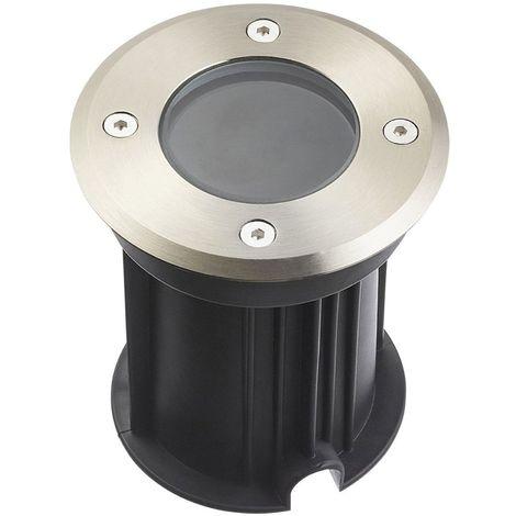 Spot encastrable Rond MIAMI Inox 316L (montage en série avec 2 presses étoupe) CLEAR GU5.3 12V IP67 HIPOW