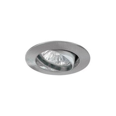 SPOT ENCASTRABLE ROND ORIENTABLE INOX POUR AMPOULE GU10 LED ou HALOGENE