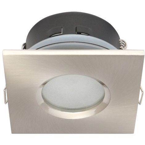 Spot Encastrable salle de bain Nickel satiné Carré GU5.3 MR16 IP65 W LED LINE - 245398