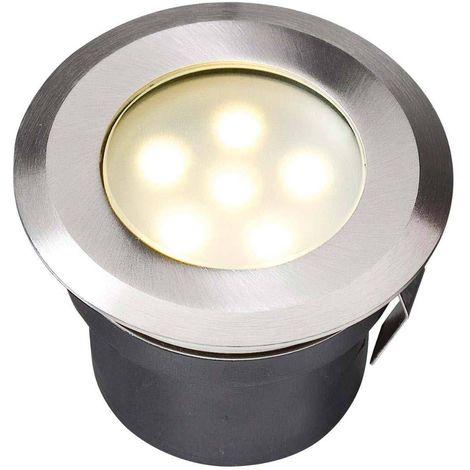 Spot encastrable SIRIUS 1W PLATINE LED IP68 Blanc Chaud éxterieur Garden lights ampoule fournie - GL4039601