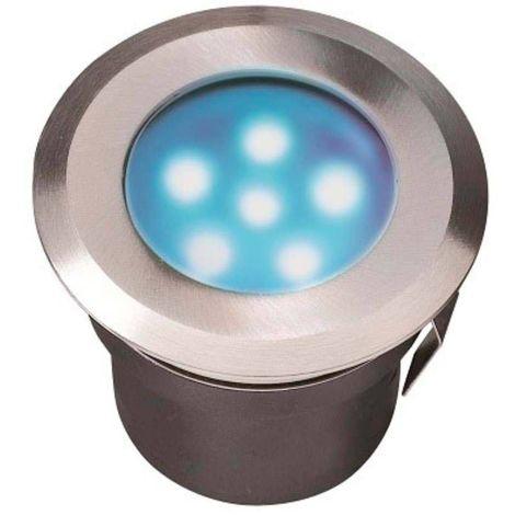 Spot encastrable SIRIUS BLUE 1W PLATINE LED IP68 Blanc Très Froid éxterieur Garden lights ampoule fournie - GL4113601