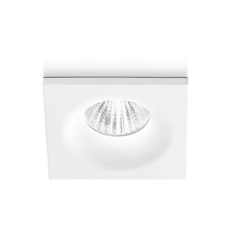 Spot encastrable verre aluminium gea led gfa851 spot led faux plafond carré 4w 3000 ° k 4000 ° k ip20
