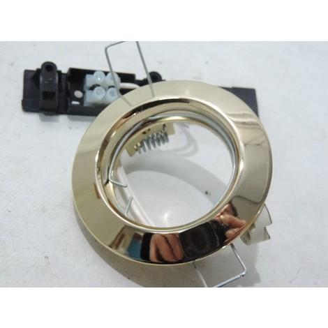 Spot encastré Ø 76mm doré fixe pour lampe GU5.3 12V 50W max (non incl) sans transfo WALT TRAJECTOIRE 110032