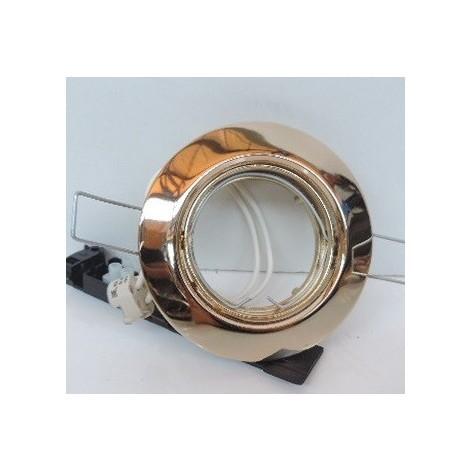 Spot encastré Ø 86mm doré orientable pour lampe MR16 GU5.3 12V 50W max (non incl) IP20 KEVIN TRAJECTOIRE 140132