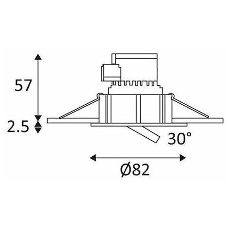 Spot encastré - AL1014RD - 7,5W - 3000 K - Blanc mat