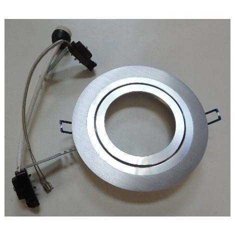 Spot encastré alu Ø 180mm orientable pour lampe AR111 G53 12V ou GU10 230V 50W max (non incl) sans transfo IP20 SEET 25500