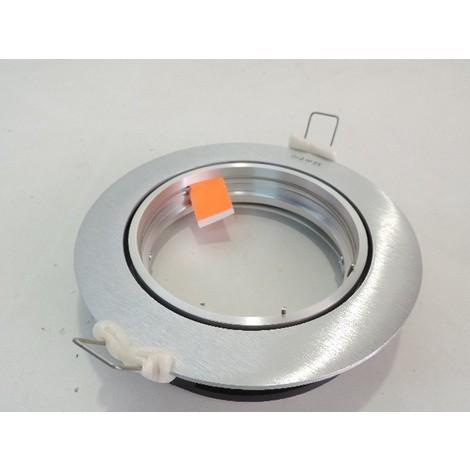 Spot encastré alu brossé Ø 170mm pour lampe 75W GU10 (non fournie) S-CELO ARIC 1347