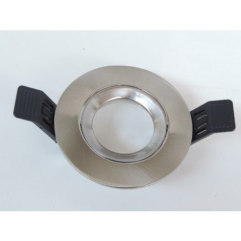 Spot encastré alu brossé Ø 80mm orientable pour lampe GU10 ou G5.3 50W max (non incl) sans douille IP20 SWIFT SEET 2551