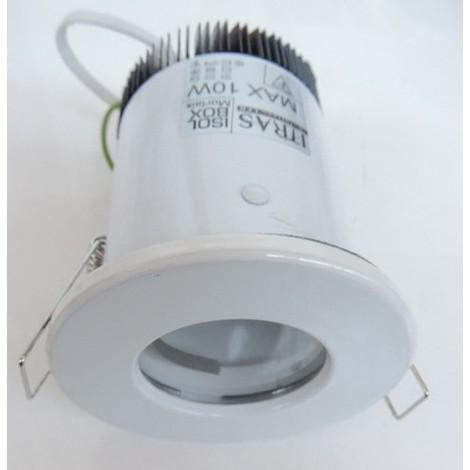 Spot encastré blanc Ø 82mm pour lampe GU10 (non incl) avec boite étanche BBC RT2012 MORLAIX ITRAS 701072