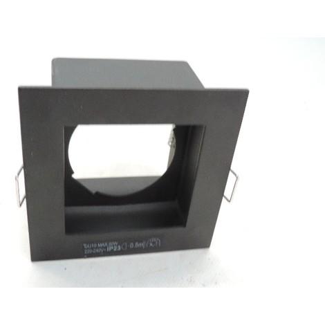 Spot encastré carré métal 90X90mm acier pour lampe GU10 230V (non incl) SQ100 INDIGO DO14005