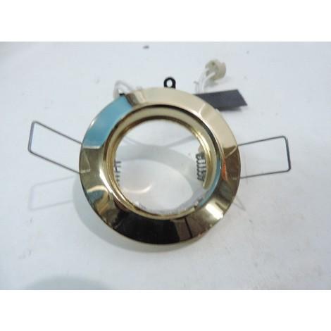 Spot encastré couleur or Ø 78mm fixe pour lampe 12V G5.3 50w max (non incl) 142410 RE MAJEUR IL20551010