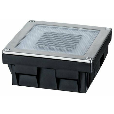 Spot encastré de sol LED Special Line Solar Cube - 1 x 0,24W - Carré - Acier inoxydable - Sources incluses