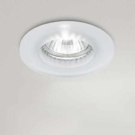 Spot encastré gea led gfa070 spot led verre satiné plaque de plâtre faux plafond intérieur gu10