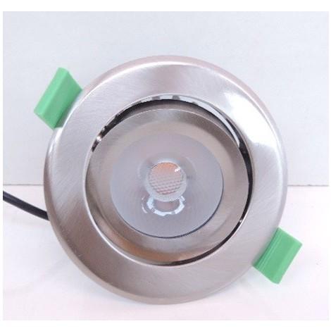 Spot encastré LED 10W Ø 95mm alu orientable 3000K 650lm dimmable faisceau 32° avec driver 230V IP44 CORELINE PHILIPS 069073