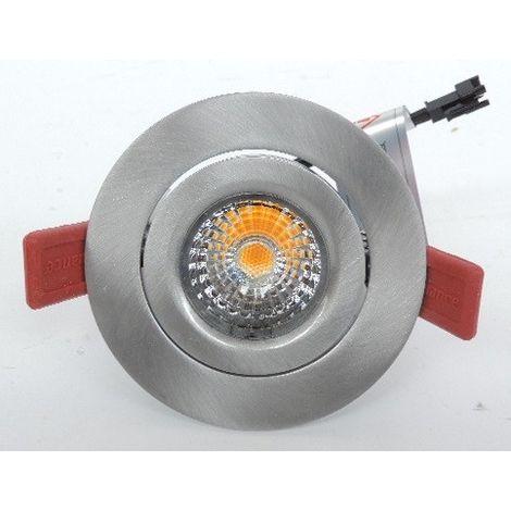 Spot encastré LED 12W Ø 90mm alu brossé orientable 3000K 810lm avec driver 230V 40° INSTAR PRO LED SWING SYLVANIA 3079383