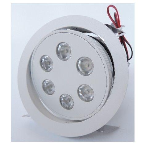 Spot encastré LED 18W Ø 135mm blanc mat orientable 4000K pour alim 700mA (non incl) faisceau 25° IP20 TRITON 6 SLV DECLIC 113641