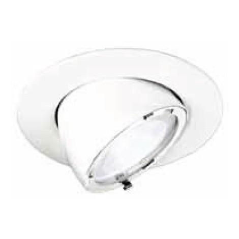 Spot encastré LED 18W orientable Ø 192mm blanc lumière blanc chaud 3000K 1600lm avec alim 230V BYLAT TRAJECTOIRE 004266