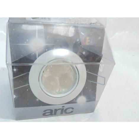 Spot encastré LED 3.6W orientable blanc Ø 83mm kit avec module blanc froid 6300K et alimentation 12V angle 30° XL3 ARIC 5062