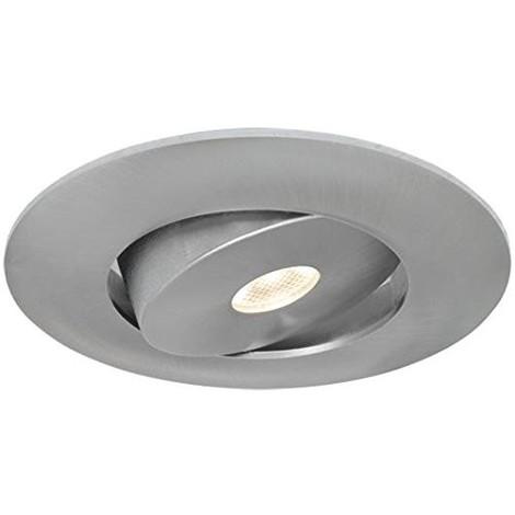 Spot encastré LED 5W Ø 95mm alu brossé orientable chaud 3000K 345lm (équivalent 50W) 230V 30° IP23 INTEGRA Light Topps LT12617