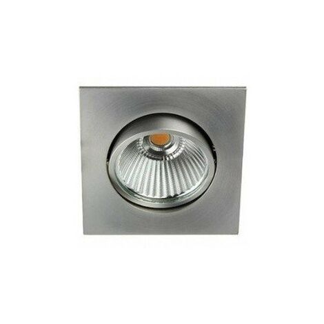 Spot encastré LED 6W carré orientable Aluminium