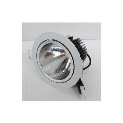 Spot encastré LED 7.2W Ø 90mm blanc sans collerette 4100K 350mA (driver 230V non incl) 27° VIO GE LIGHTING 77520